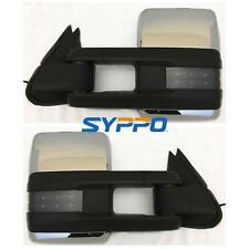 Manual Chrome For 99-06 Silverado Sierra Towing Mirrors Smoked LED Signal Lamps