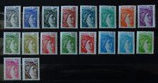 timbres poste France n° 1962 à 1979  Sabine Louis David. 18 valeurs