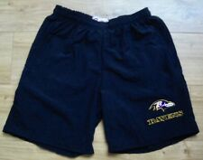 "Baltimore Ravens New Sports or Casual Shorts,Pockets,Black 36""Waist,Embroidered"