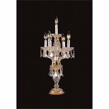 Upscale Chandelier 482105-4-1HB Crystal Candelabra Table Lamp