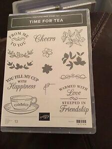 "Stampin Up! ""TIME FOR TEA"" Stamp Set 147069"