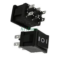 2PCS 6Pin DPDT ON-OFF-ON 3 Position Snap Boat Rocker Switch AC 6A/250V 10A/125V