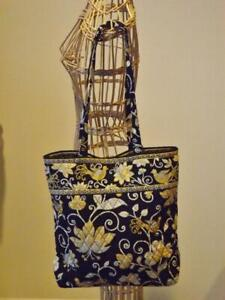 Vera Bradley Yellow Bird Quilted Tote Bag EXC