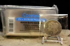 Coretek 50pk 2.5x2.5 Coin Holders Long Term Non Vinyl Museum Quality Flips
