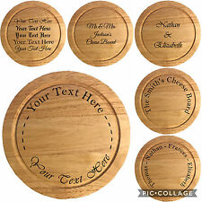 PERSONALISED Engraved Wood Cheeseboard with 4 Piece Serving Set Wedding Gift