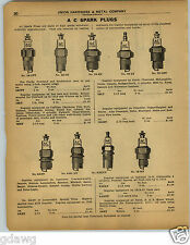 1922 Paper Ad Ac Spark Plug Fords Essex Pierce Arrow White Wolverine Tractor