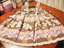 BTSSB Sweet Lolita Brown La La La Swing Furry Puppy High-Waist JSK Dress Used VG