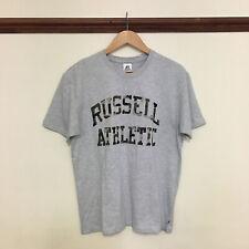 MENS RUSSELL ATHLETIC CAMO PRINT SHORT SLEEVE T-SHIRT GREY RARE 90S MEDIUM