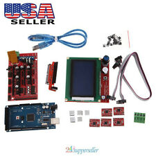 3D Printer Kit RAMPS 1.4+Mega 2560+A4988+LCD 12864 Controller Board for Reprap