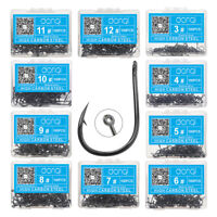 Fishing Hooks Black High Carbon Steel Fishook 100pcs Ise Fishing Jig Hooks Head