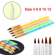 Acrylic Nail Art UV Gel Carving Brushes Glitter Pen Set Tools Polish Drawing Pen