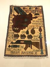 GENUINE AFGHAN WAR RUG & Wall Hanging Hand knotted with Wool Unique Tribal Art