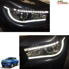 For Toyota Hilux Revo 15-17 LED Car Front Head Light Daytime Running Lamp Cover