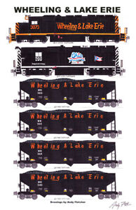 """Wheeling & Lake Coal Train 11""""x17"""" Poster by Andy Fletcher signed"""