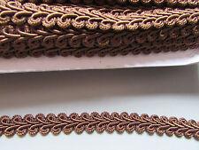 Brown cinese 1cm Zoppo treccia x 1 metro cucito/costumi/Artigianato/Corsetteria