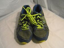 New Balance 550 Shoes Size 4 Running Youth Athletic Bright Green And Blue 3211
