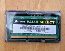 Corsair CMSO8GX3M2A1333C9 (4 GB, PC3-10666 (DDR3-1333), DDR3 RAM, 1333 MHz,...
