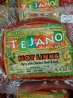 Tejano Gold Hot Links Sausage 16 Oz (4 Pack)