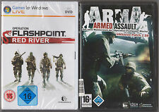 Arma ARMED ASSAULT + Operation Flashpoint Red River raccolta giochi pc