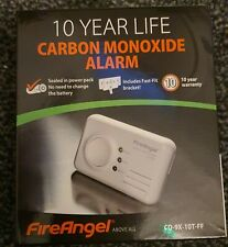 Carbon Monoxide Detector Fire Angel CO Alarm 10 Year CO-9X-10T-FF Fireangel LED
