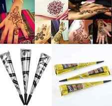 India Temporary Tattoo kit Natural Herbal Henna Cones Body Art Paint Mehandi Ink
