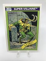 1990 Marvel Comics Impel Super Villains Card Loki #54 Mint Vintage PSA Ready