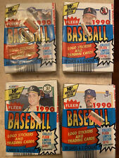 1990 FLEER BASEBALL BASEBALL 4 CELLO PACKS