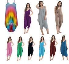 New ladies/Women Jumpsuit/Playsuit Romper Harem Lagen look Cami Dress Sizes 8-28