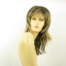 Perruque femme mi-longue Brun méché doré : NINON 1BT24B