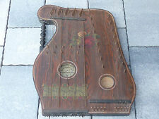 vintage suisse ANCIEN CITHARE harfe zither INSTRUMENT de MUSIQUE harpe HARP old