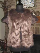 LAGI NADEAU Faux Fur Short Sleeve Vest S