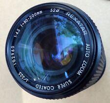 Rexatar Auto Zoom Super Coated f-80-200mm Lens Pentax KA Mount