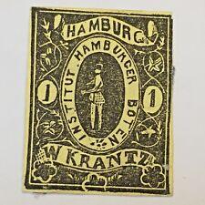 Stamp, Inscription 'HAMBURG INSTITUT HAMBURGER BOTEN W.KRANTZ