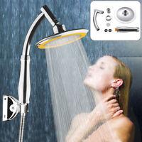 High Turbo Pressure Shower Head Large Chrome Bath Powerful Energy Water Saving