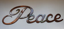 Metal Wall Art Decor Peace copper/bronze plated