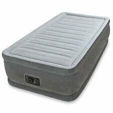 "Twin Size Air Bed Mattress Intex 18"" Built-In Electric Pump Raised Aerobed"