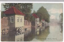 Hertfordshire; A Scene At Ware on River PPC, 1911 PMK by Shureys