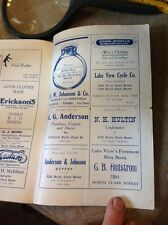 chicago illinois adverting program swedish singers 1917 restaurant De Young
