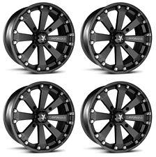 4 ATV/UTV Wheels Set 14in MSA M20 Kore Black 4/156 0mm 1KXP