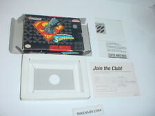 THE DEATH & RETURN OF SUPERMAN BOX & INSERTS ONLY- Super Nintendo SNES- NO GAME