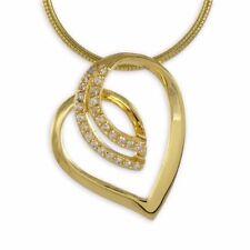 Echtschmuck-Halsketten & -Anhänger mit Zirkon-Schönheits