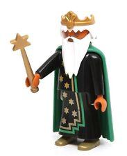 Playmobil Figure Custom Castle Merlin Wizard Sorcerer Crown Cape Magic Wand 3839