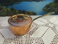 "Copper Sauce Pan with Lid Made in Portugal 4"" Diameter , 2 1/4"" Deep"