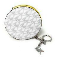 Michael Kors Jet Set Circle Coin KeyFob Pouch Wallet Key Ring MK Signature