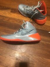 Grey and Orange 2013  Nike Hyperdunk size 9.5 Basketball Shoes