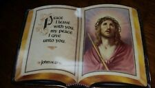 "Collectible Franklin Mint Heirloom ""Peace I Give Unto You"" porcelain Bible Plate"