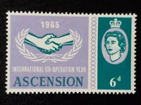 ASCENSION SG 90 var [Light] MM ICY 1965 SCARCE - Green PRINTED DOUBLE Blurred