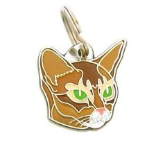 Personalised, Stainless Steel, Pet ID Tag, Abyssinian