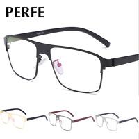Men Fahsion Metal Frame Optical Glasses Square Clear Lens Myopia Glasses Frame