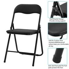 NEW Set of 4 Commercial Black Plastic Folding Chairs Stackable Picnic Party HOT